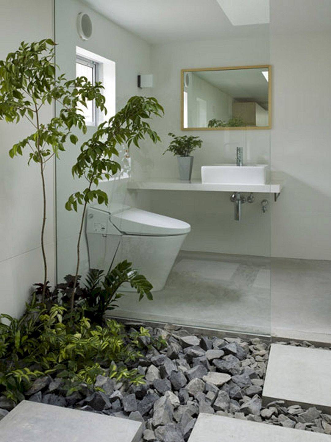 6 Awesome Bathroom Design With Indoor Plants To Make Your