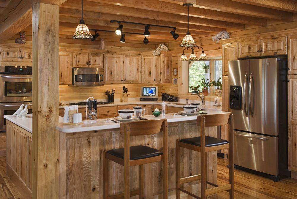 natural-log-cabin-home-kitchen-interior-design | Diy kitchen ... on homemade bookshelf ideas, homemade backyard ideas, homemade cutting board ideas, homemade cabinet ideas, homemade garage ideas, homemade fireplace ideas, homemade bed ideas, homemade bedroom ideas,