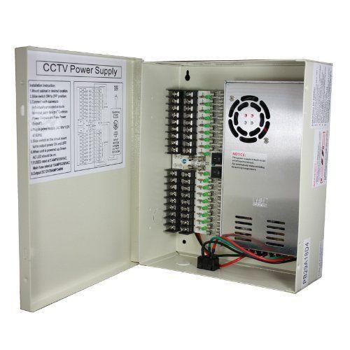 InstallerCCTV 9 Outputs 12 Amp 12V DC CCTV Distributed Power Supply Box