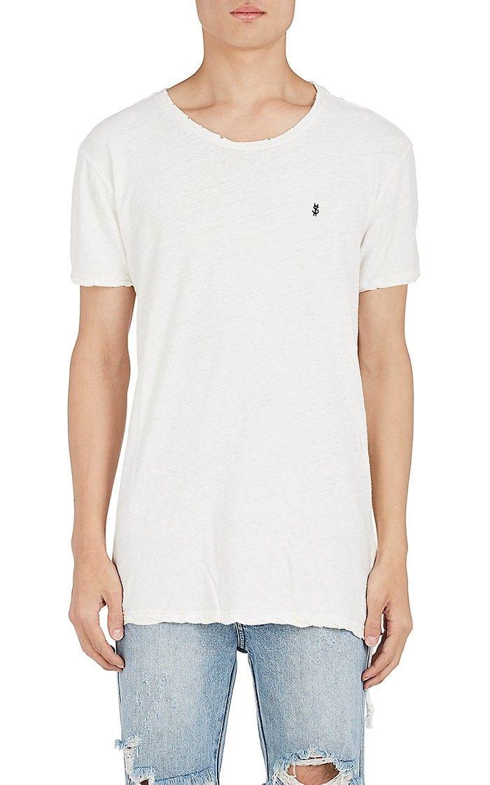 KSUBI Cross Dollar Cotton Linen T Shirt. #ksubi #cloth #