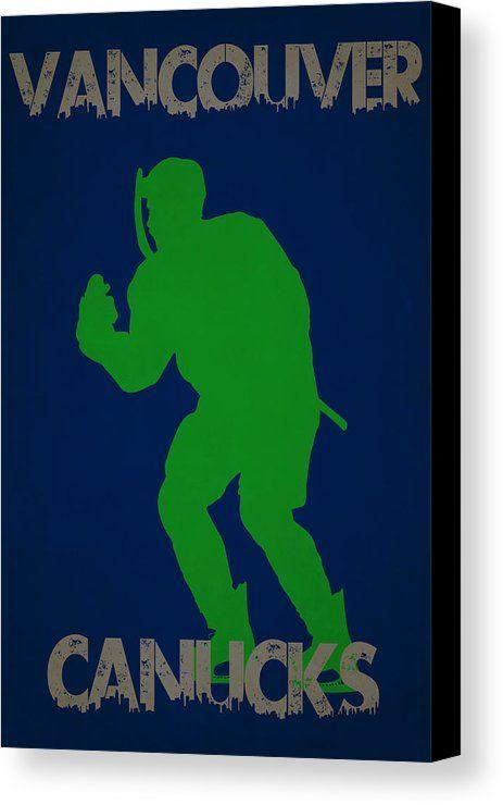 Canucks Canvas Print featuring the photograph Vancouver Canucks by Joe Hamilton