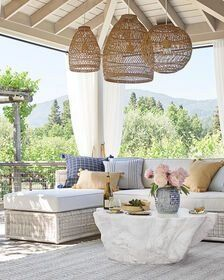 Summerland Outdoor Round Pendant - Dune - Serena & Lily ... on Dune Outdoor Living  id=93326