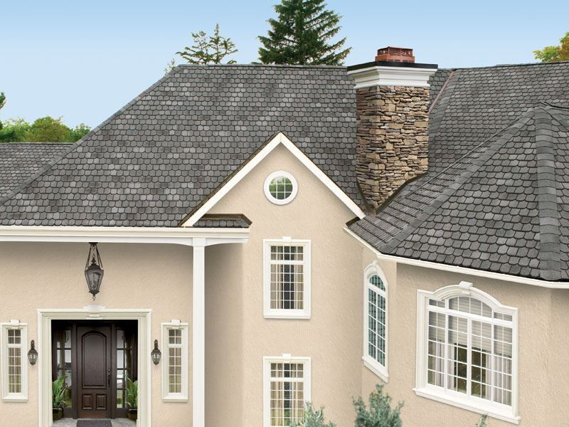 Gaf Country Mansion Shingles In Olde Pewter Roofing Contractors Roofing Companies Asphalt Roof