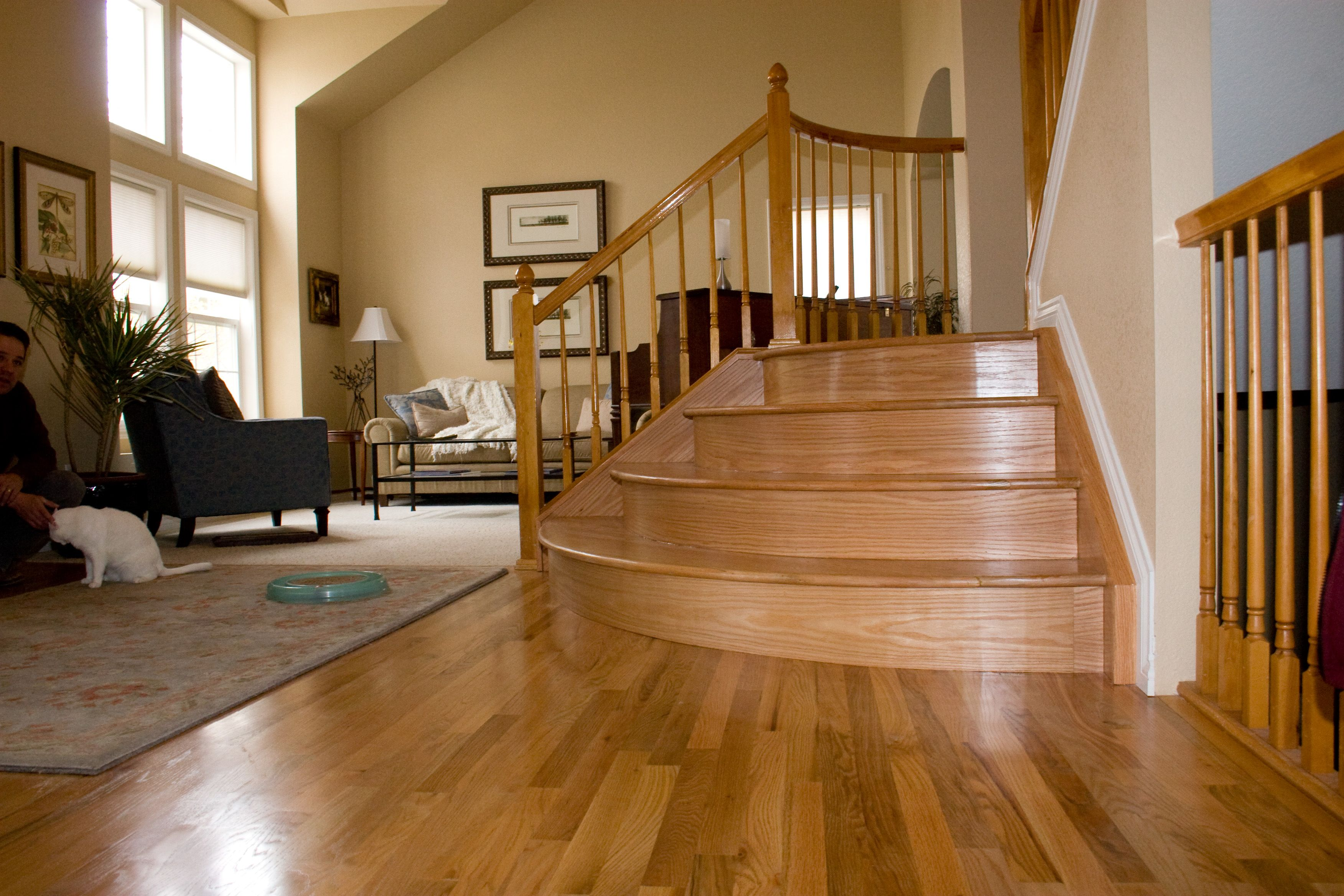 Best Wood Staircases Dustless Refinishing Wood 400 x 300