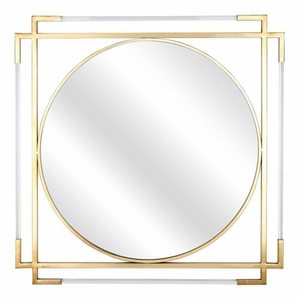 Imax Medium Round Mirror 36 In H X 36 In W 75163 The Home Depot Framed Mirror Wall Mirror Wall Frames On Wall