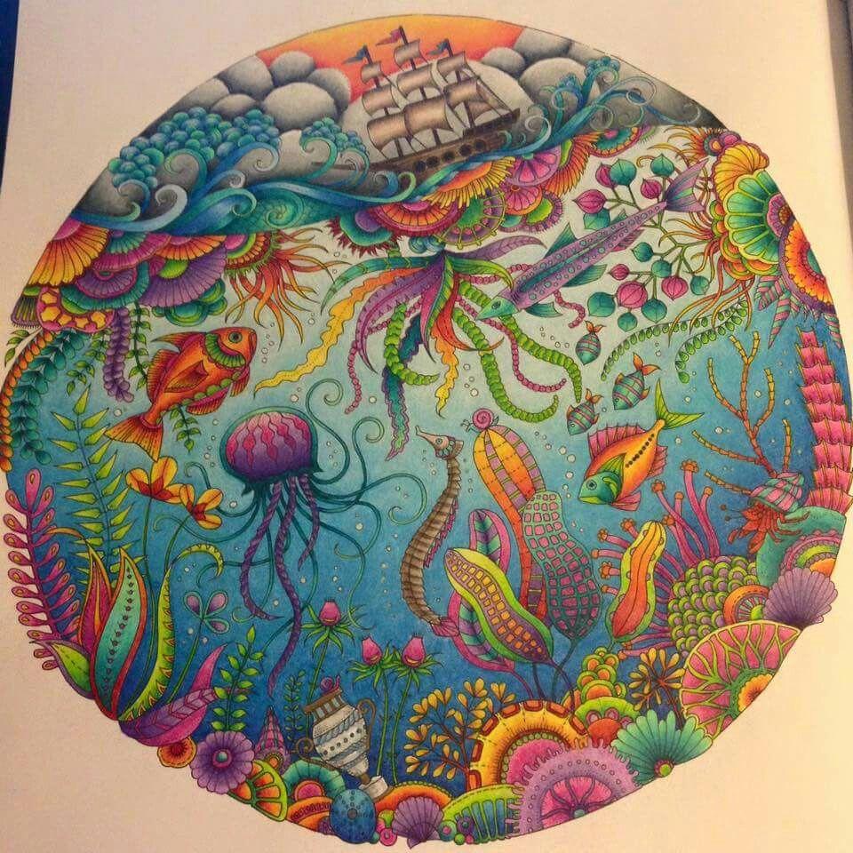 Lost Ocean Prismacolor Lost Ocean Coloring Book Basford Coloring Book Johanna Basford Coloring Book