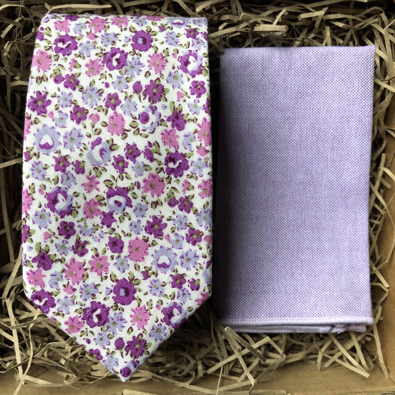White Lavender 6cm Wide Floral Tie Lavender Floral Necktie Etsy In 2020 Pocket Square Pattern Pocket Square Wedding Tie And Pocket Square