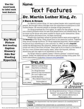 Dr. Martin Luther King, Jr. Literacy Unit