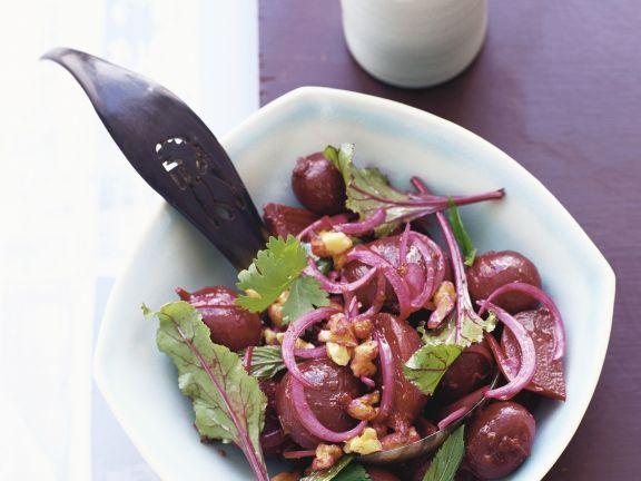 Salat von Roter Bete ist ein Rezept mit frischen Zutaten aus der Kategorie Gemüsesalat. Probieren Sie dieses und weitere Rezepte von EAT SMARTER!