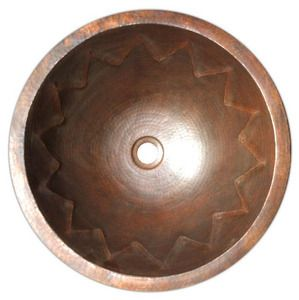"Photo of Round Copper Bath Sink ""San Francisco"""