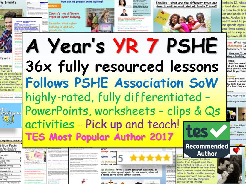 Year 7 Pshe Rse Complete Pshe Lessons Teaching Technology Teaching Science