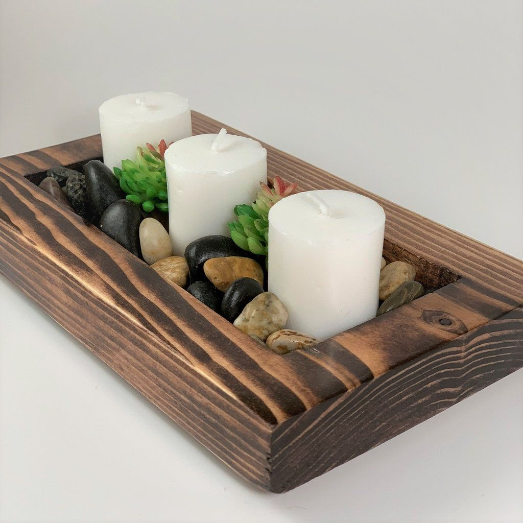 HURRICANE CANDLE GIFT SET WITH WOODEN STAND UNIQUE XMAS GIFT HOME CANDLES NEW
