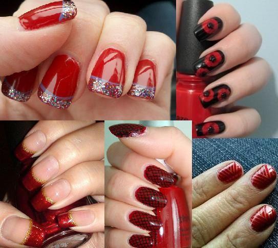 Crazy Nailzz: Gorgeous Red Nail Art designs - Crazy Nailzz: Gorgeous Red Nail Art Designs Crazy Nailzz