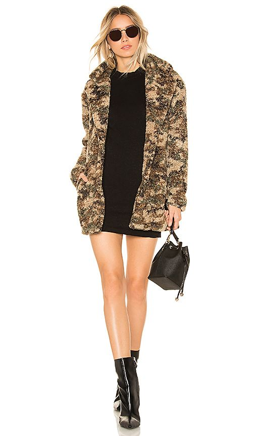 e0307396413b7 by the way. Emery Camo Faux Fur Coat in Olive Multi | REVOLVE | PRE ...
