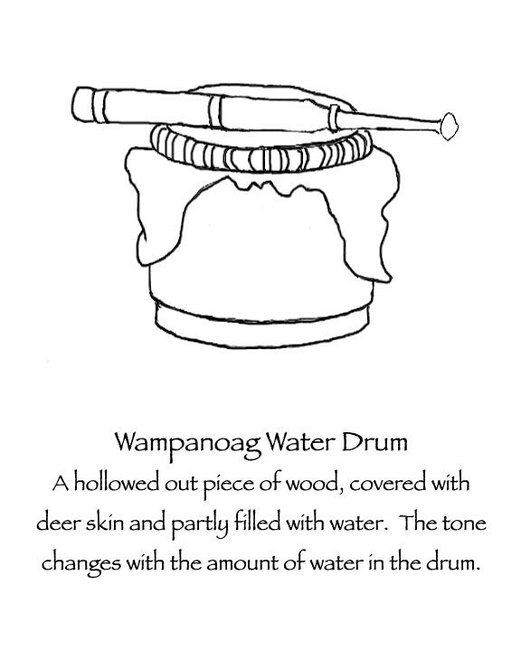 All Native American People Had Drums The Wampanoag A Small Hand Held Water