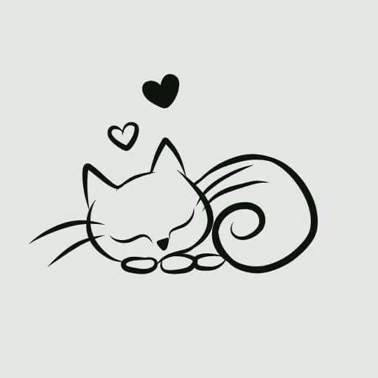 Photo of Katze mit Herz –  Katze mit Herz  – #arrowtattoo #dragontattooforwomen #Herz #ka…