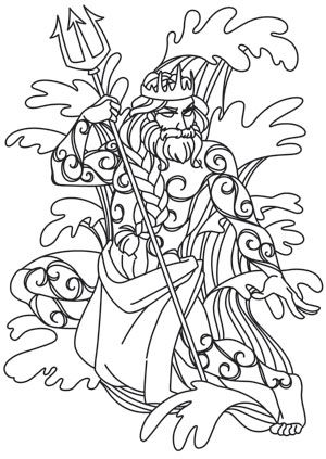 Greek Gods Poseidon Coloring Pages Greek Gods Colouring Pages