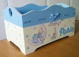 Manualidades cajas de madera para bebes