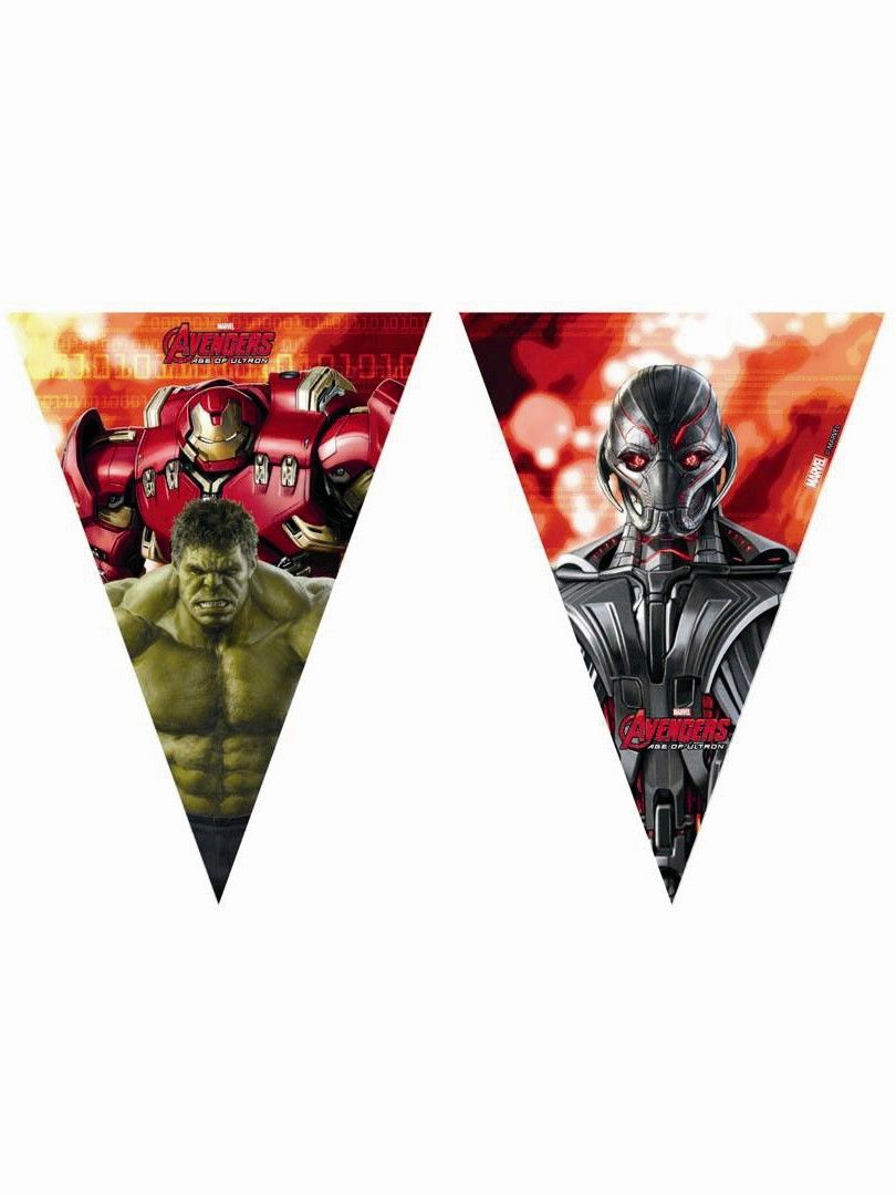 Marvel Avengers Age of Ultron Flag Banner Party Decoration from ...