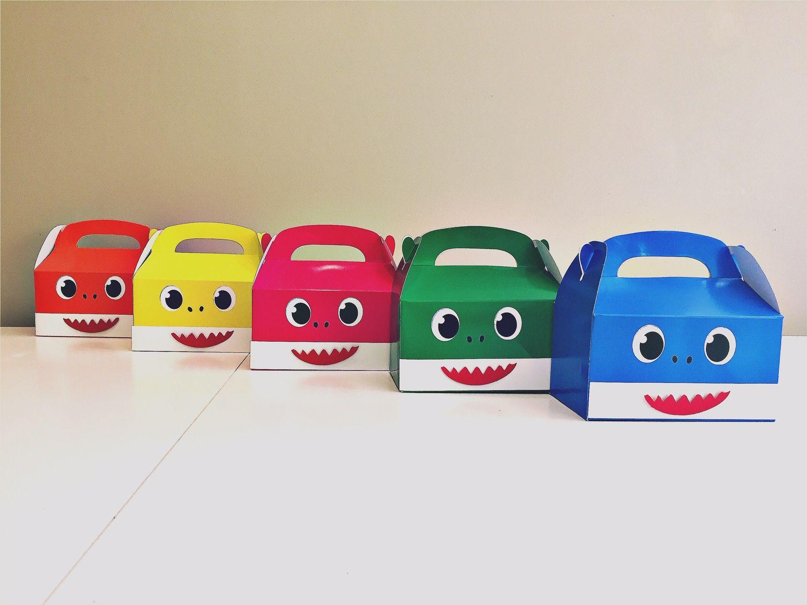 Baby shark party gift boxes shark party shark themed