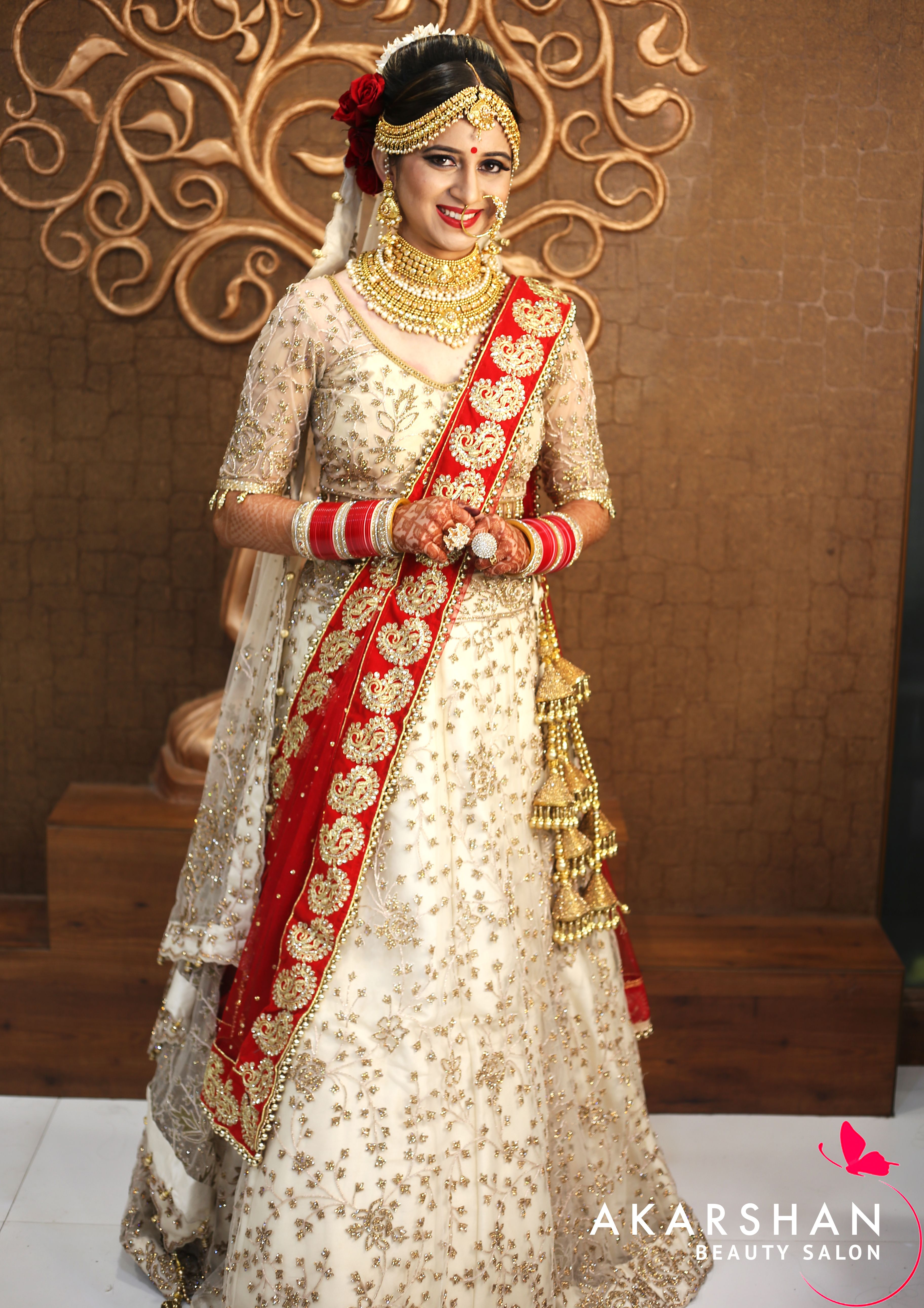 Hd Bridal Makeup With 3d Effects At Akarshan Beauty Salon By Asha Jeswani Hd Bridal Makeup Bridal Makeup Beauty