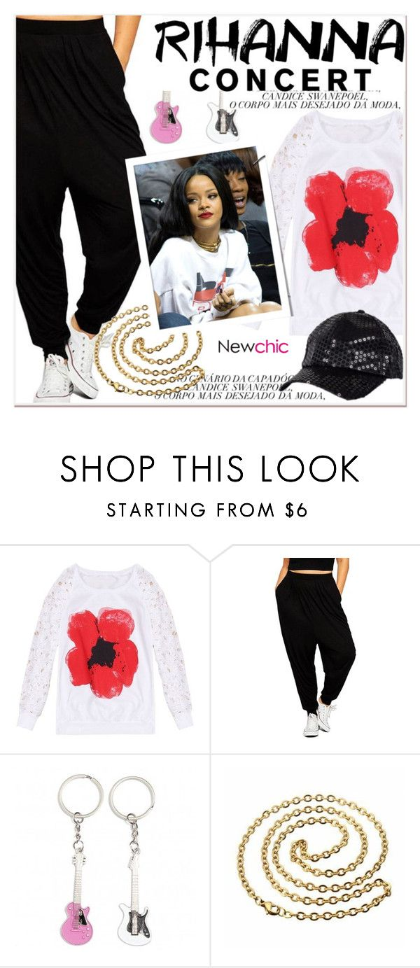 """Hot Ticket: Rihanna Concert"" by paculi ❤ liked on Polyvore featuring Rihanna and newchic"
