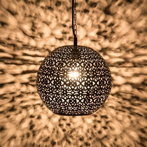 Heart pattern hanging lamp