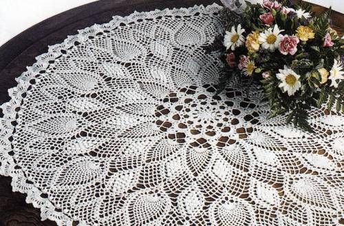 35 Pineapple Crochet Designs Doilies Doily Afghans Table Toppers Pattern Book