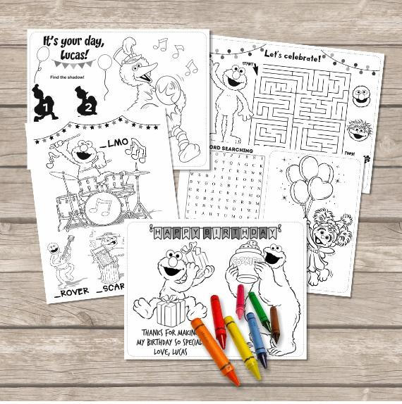 Elmo Coloring Pages, Sesame street Coloring, Printable Elmo Birthday ...