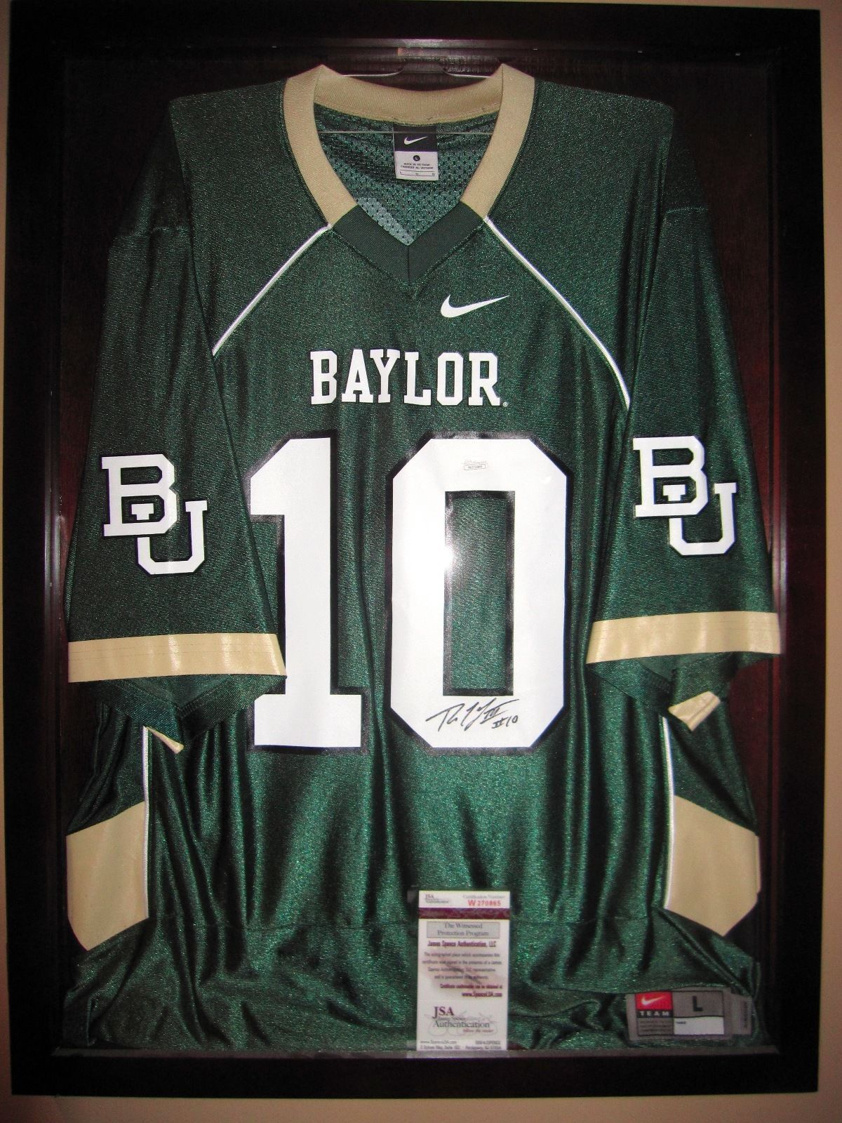 new style f7a6c 781e9 Robert Griffin III RG3 Signed Autograph Baylor Bears Nike ...