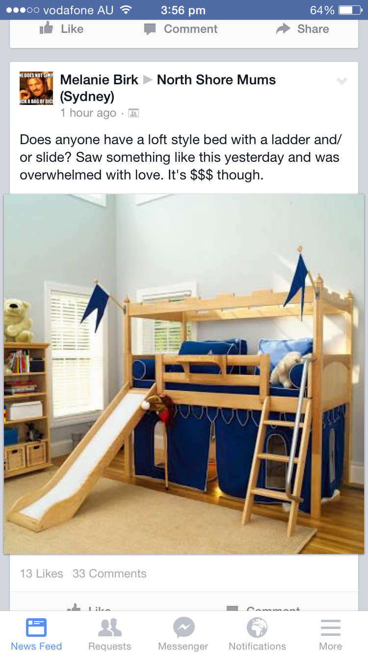 Loft bed with slide and storage  Pin by Amy Day on Kids Room  Pinterest  Kids rooms