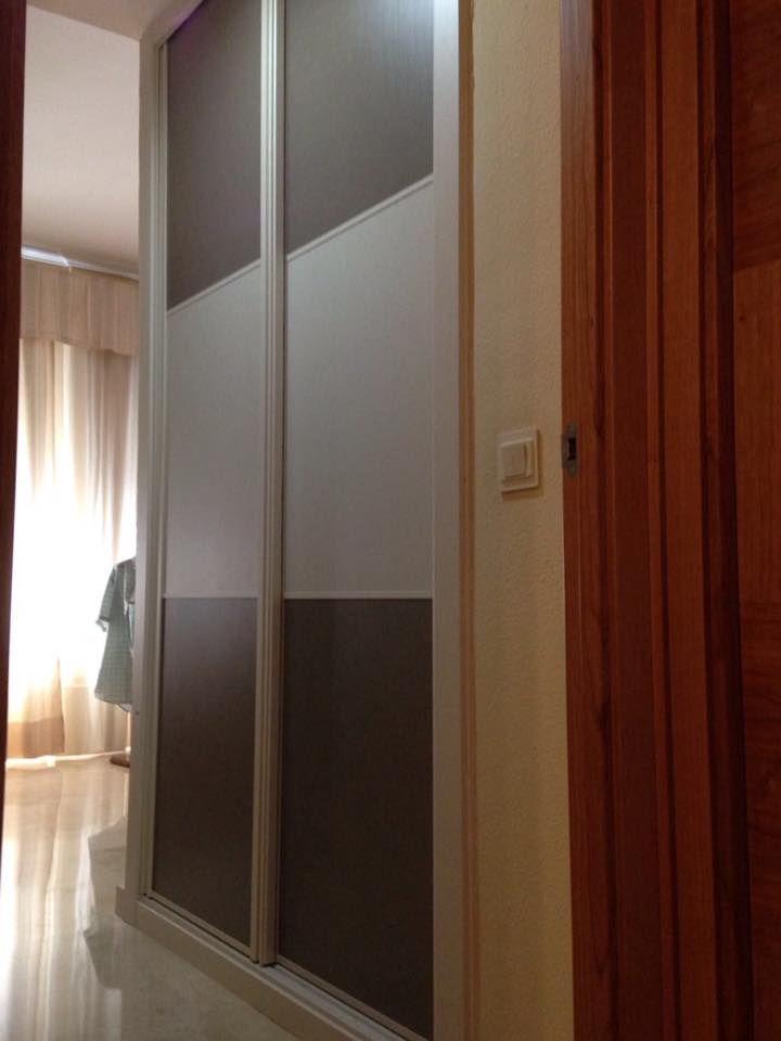 Frente de armario corredera combinado lino coral y lino - Frente armario corredera ...