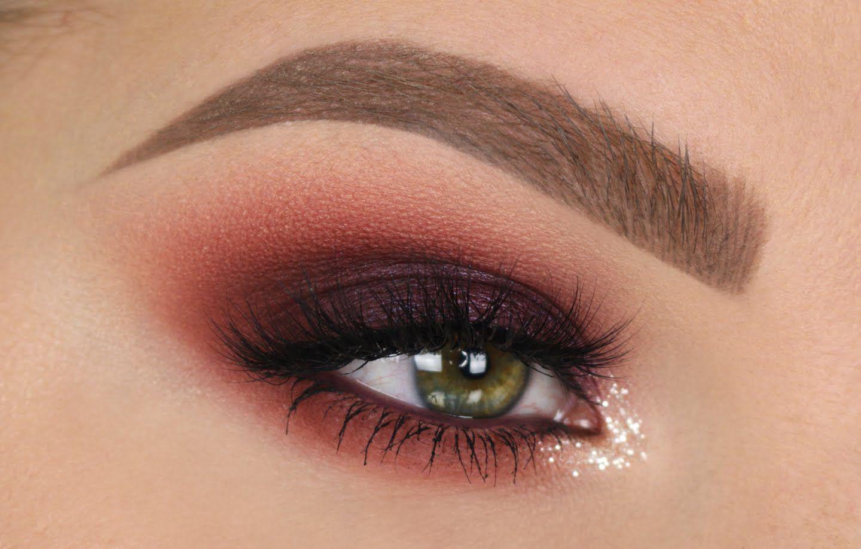 Maroon And Gold Eye Makeup Maroon Smokey Eye Fall Makeup Tutorial