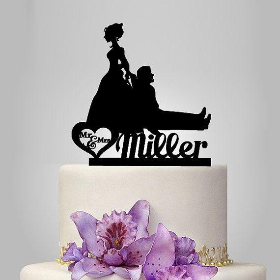 Kontur Lustige Cake Topper Braut Und Brautigam Cake Von Walldecal76