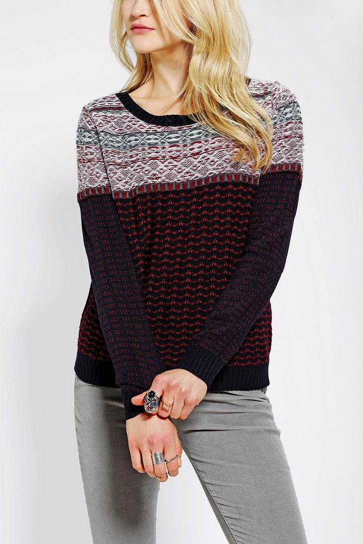 Coincidence & Chance Reverse Fair Isle Sweater | Urban Outfitters ...