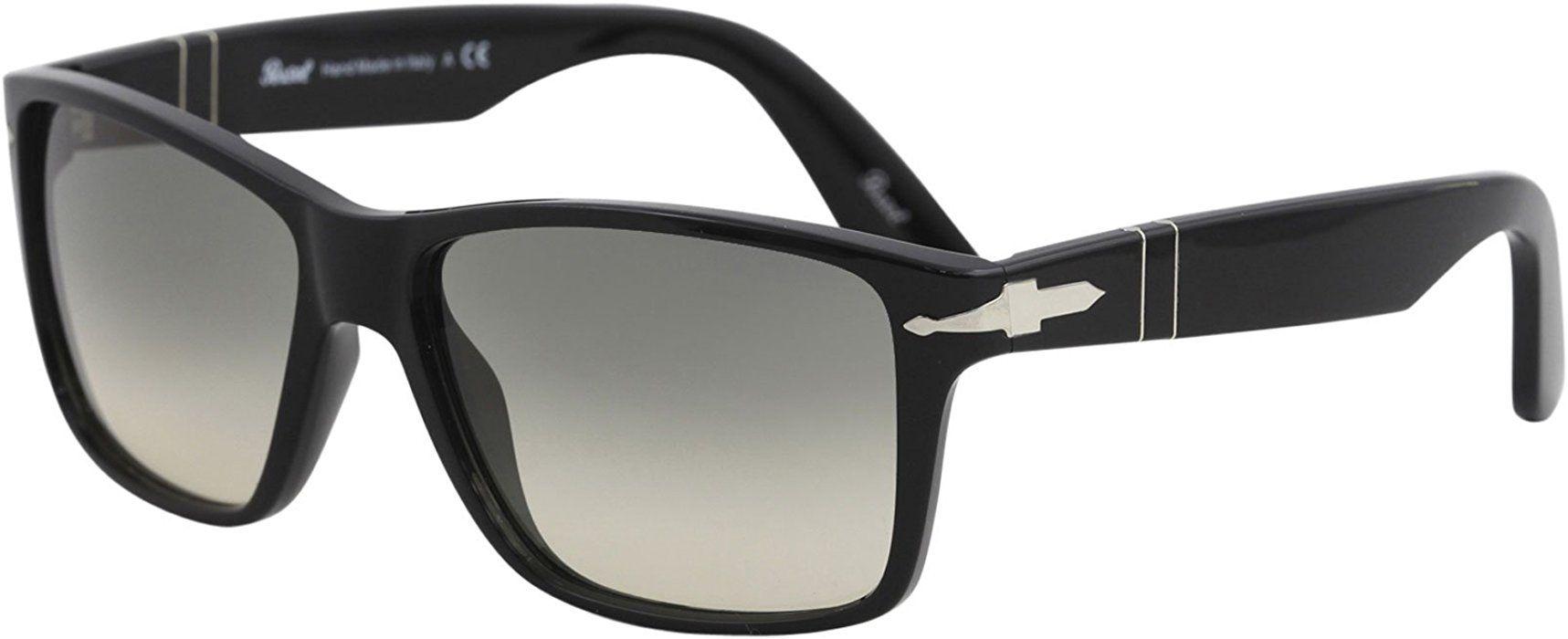 cc138c8bf6 Amazon.com  Persol Mens Sunglasses Black Grey Plastic - Non-Polarized -