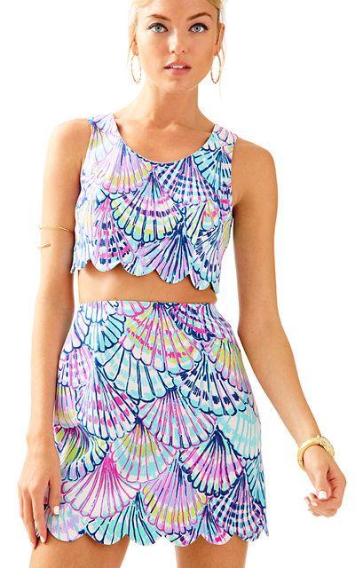 80a8c9ed1f Cadden Scalloped Crop Top & Skirt Set   Fabulous Fashion Finds ...
