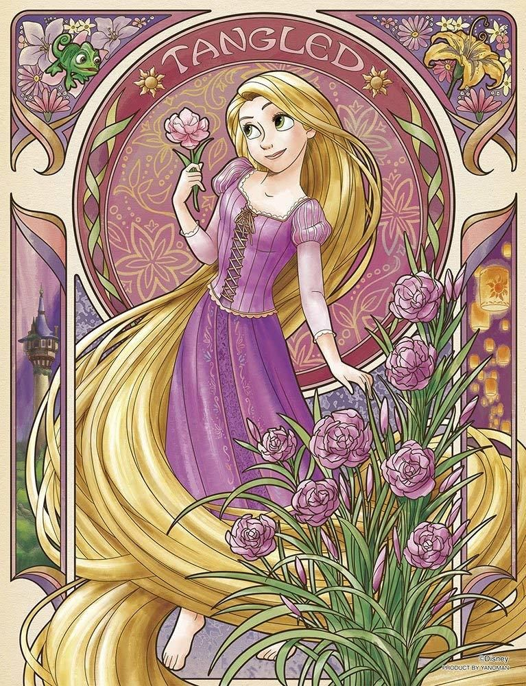 Yanoman Jigsaw Puzzle 42-55 Disney Fleur Rapunzel (300 Small Pieces)