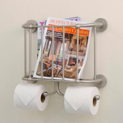 Wall Hanging Magazine Rack beacon wall mount magazine rack and double toilet tissue holder in
