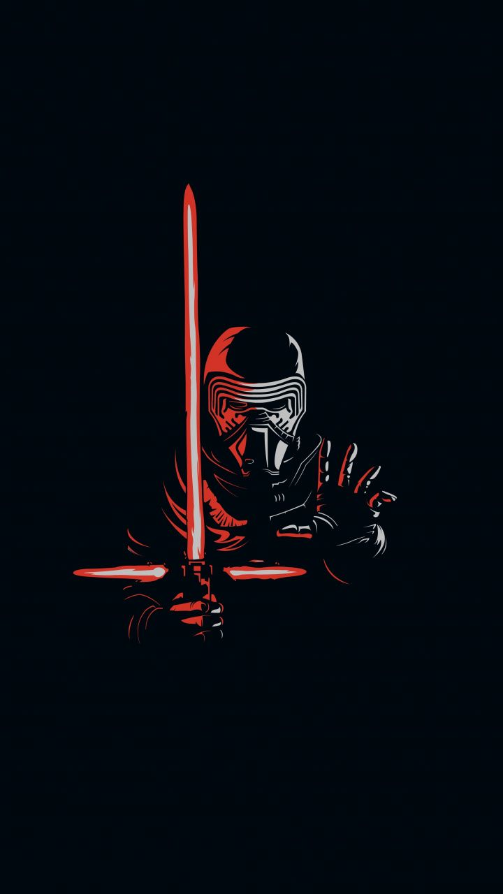 Kylo Ren, minimal, artwork, villain, star wars wallpaper