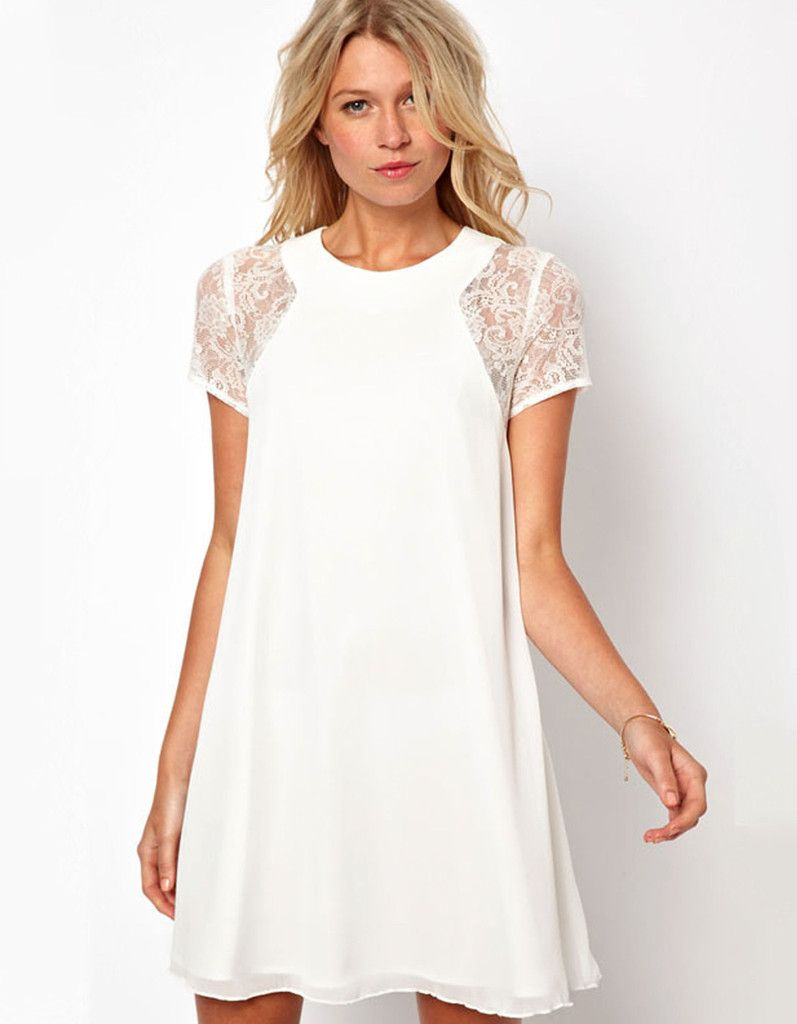 10 Best images about White Summer Dress on Pinterest  Casual ...