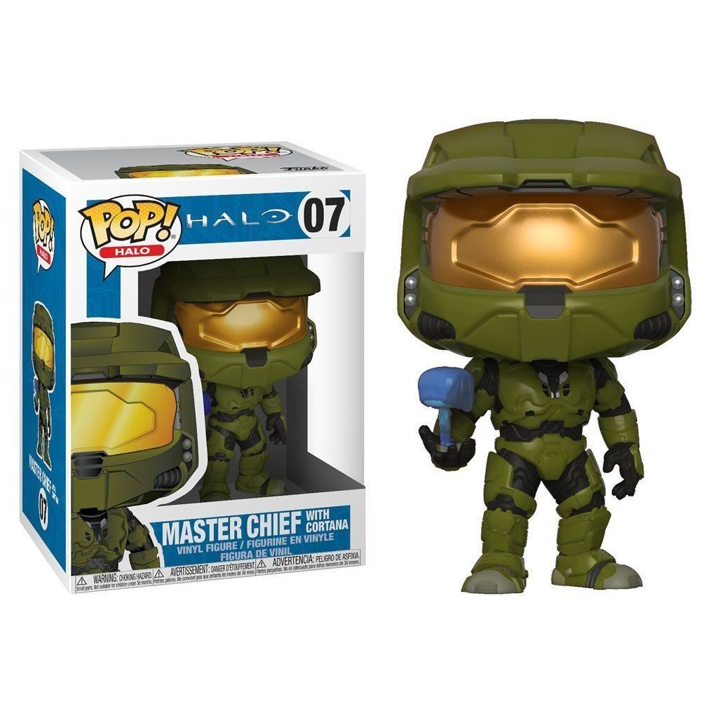 Vinile Figura Master Chief con Cortana 10 cm Funko Halo POP