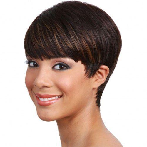 Bobbi Boss Human Hair Wig Mh1212 Cutie 100 Human Hair Wigs Human Hair Wigs Short Hair Styles