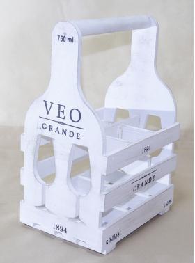 """Деревянная подставка для вина на 6 бутылок, мини-бар """"Комильфо-B6"""" 004/VP6B/1588"""