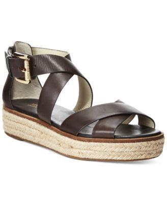 Flatform sandals, Leather strap sandals