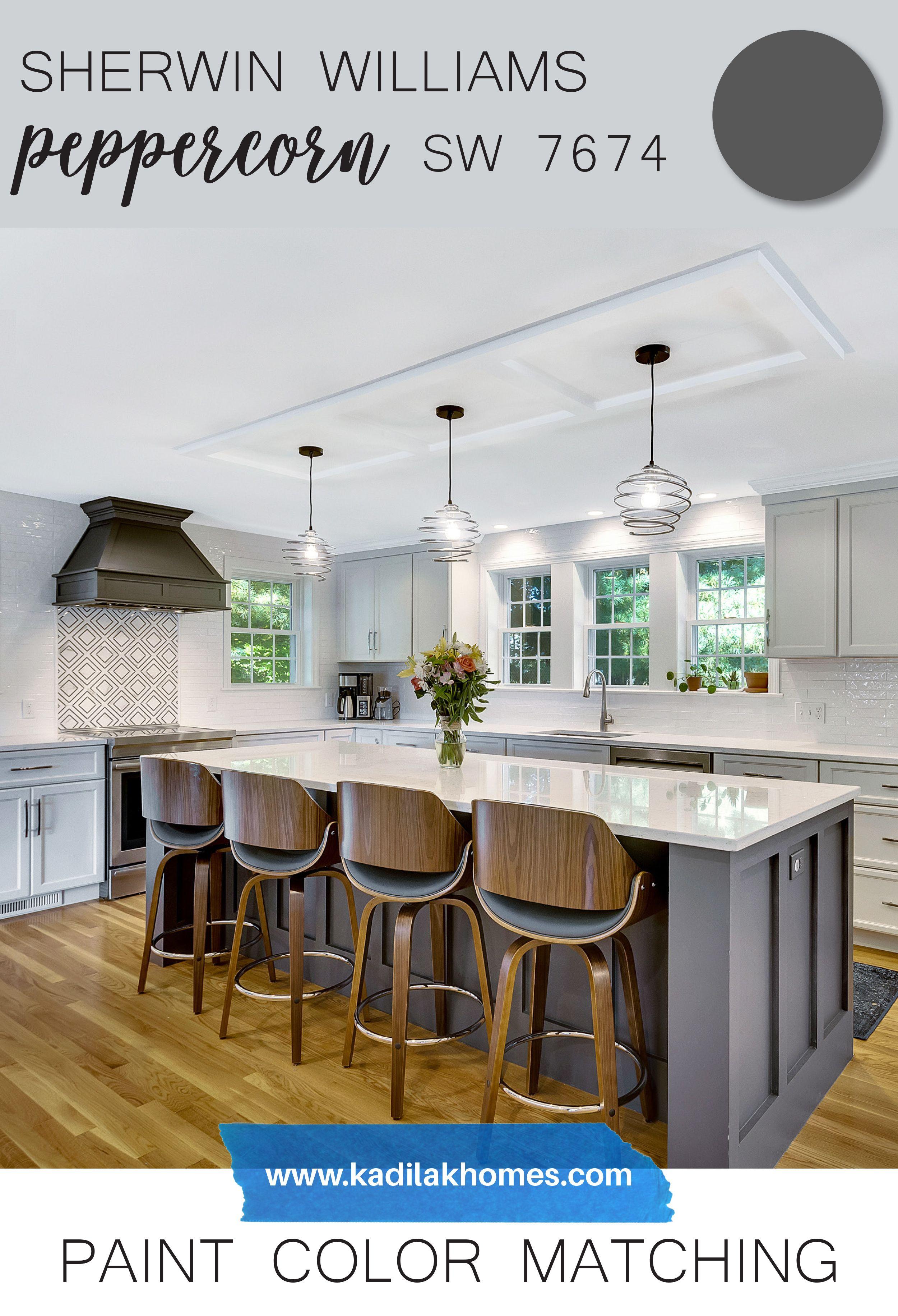 Peppercorn Sherwin Williams In 2020 Kitchen Redesign Green Kitchen Designs Kitchen Colour Schemes