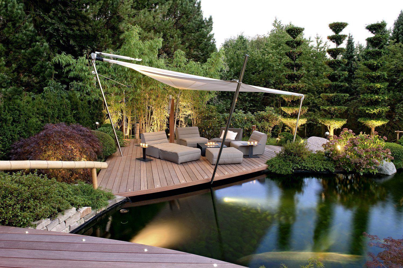 terrasse am teich garden flooring | jardinería in  | garten landschaftsbau
