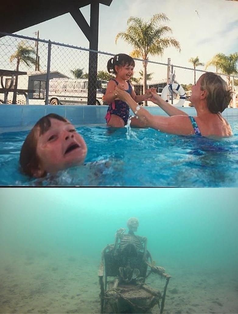 Template Mother Ignoring Kid Drowning In A Pool Meme Template Meme Pictures Reaction Pictures