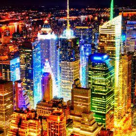 New York at night U.S.A.