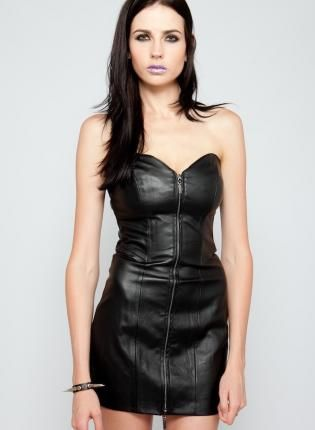 1000  images about Black leather dresses on Pinterest  Sexy A ...